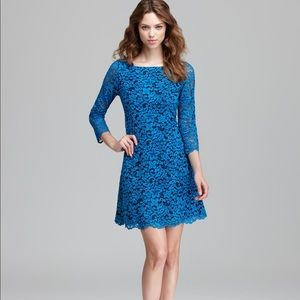 ✨SHOSHANNA✨Miranda Blue Lace Dress